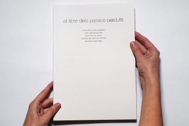 Libro de artista El llibre dels passos perduts Isabel Banal